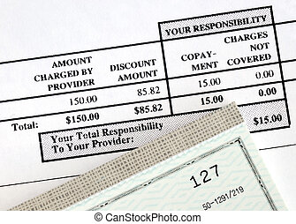 Pay the medical bill concepts of rising medical cost