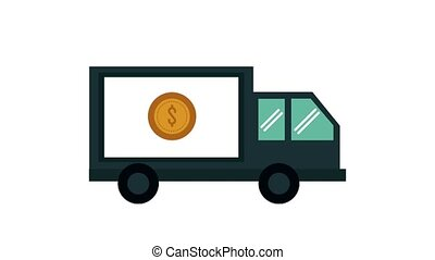 Pay Truck vehicle HD animation - Pay Truck vehicle High...