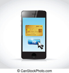 pay with a credit card. illustration design