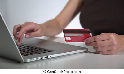 pay with credit card online on laptop