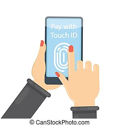 Pay with touch id.
