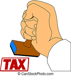 pay your taxes concept with stamp