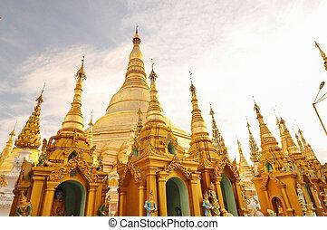 paya, yangon, shwedagon, ミャンマー