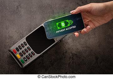 payant, bitcoin, main