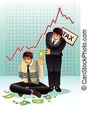 payant, concept, impôt