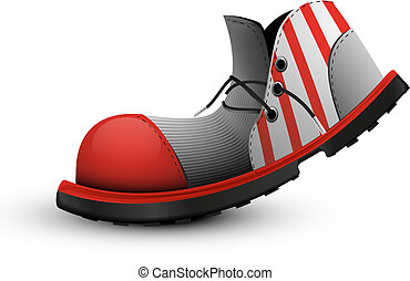 payaso, viejo, shoes