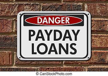 payday, fare, lån, tegn