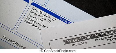 Payday loan and pay slip - Hihg APR Payday loan and payslip