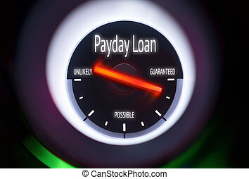 Payday Loan concept displayed on a gauge