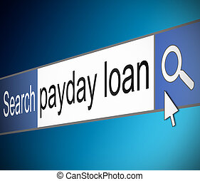 Payday loans concept. - Illustration depicting a screen shot...