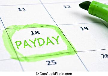 Payday mark - Calendar mark with Payday