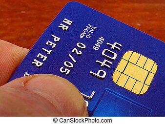 Paying by credit - Handing out your card