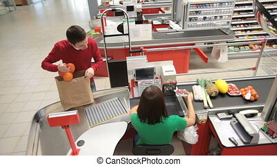 paying, groceries