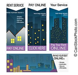 Paying rent on-line banners