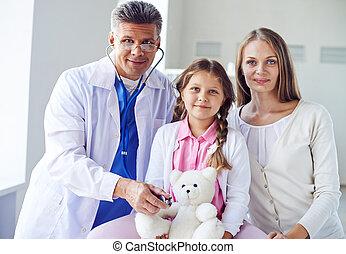 Paying visit to doctor