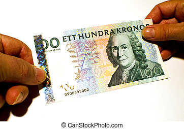 Paying with a banknote