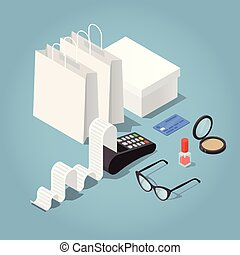 Paying with Credit Card Illustration