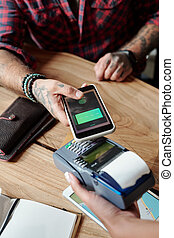Paying with online card in cafe
