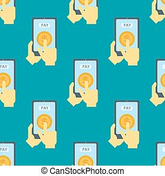 Payment acceptance vector illustration seamless pattern...