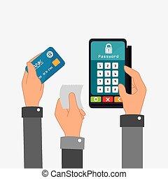 Payment design, vector illustration. - Payment design over...