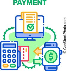 Payment Device Vector Concept Color Illustration