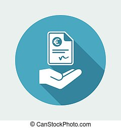 Payment document - Euro - Vector icon