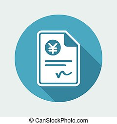 Payment document - Yen - Vector icon