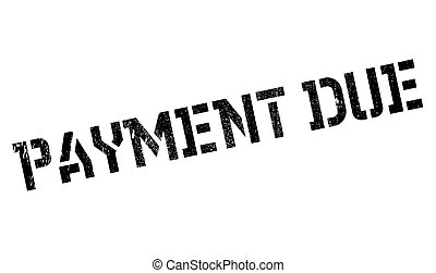 Payment Due rubber stamp
