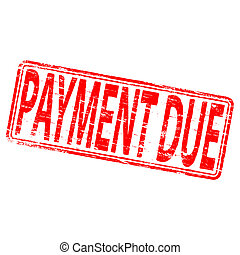 """Rubber stamp illustration showing """"PAYMENT DUE"""" text"""