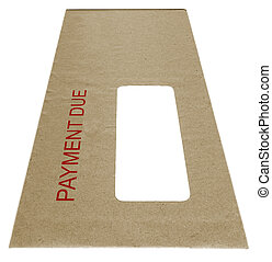 Payment Due - envelope with payment due in red letters,...