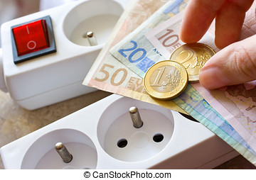 payment for electricity in house - energy supply and power outle