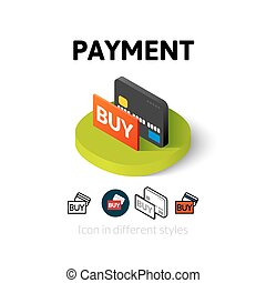 Payment icon in different style - Payment icon, vector...