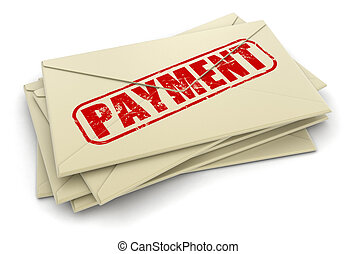 payment letters - payment letters. Image with clipping path...