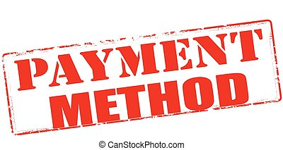 Payment method - Rubber stamp with text payment method ...