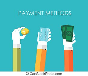 Payment Methods Flat Concept Vector Illustration