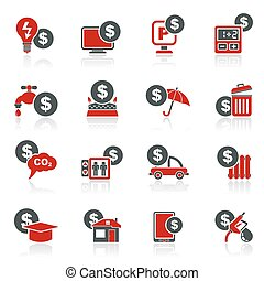 payment of  bills icons