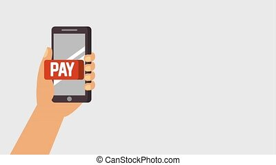 payment online digital animation