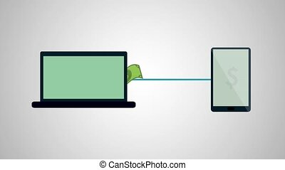 Payment online, hd animation