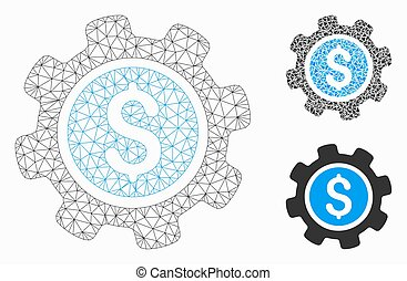Payment Options Vector Mesh Wire Frame Model and Triangle Mosaic Icon