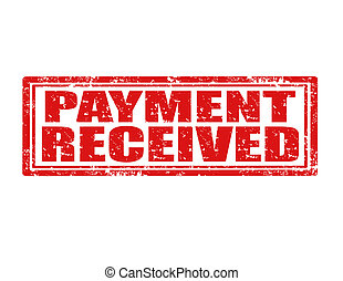 Grunge rubber stamp with text Payment received, vector illustration