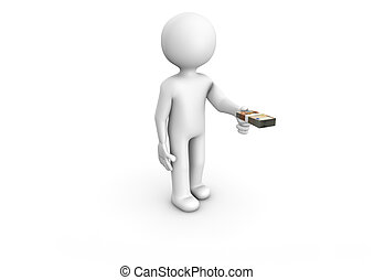 Payment - Render of a man paying