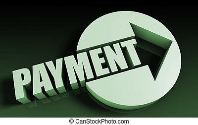 Payment Concept With an Arrow Going Upwards 3D