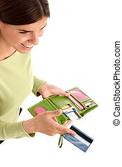 Payment - Portrait of a pretty young woman with credit card