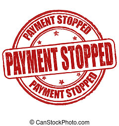 Payment stopped stamp