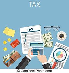 payment., taxes., impôt, gouvernement