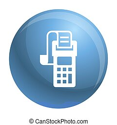 Payment terminal icon, simple style - Payment terminal icon....