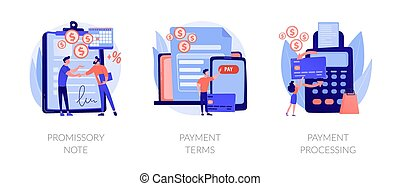 Payment terms and conditions vector concept metaphors.