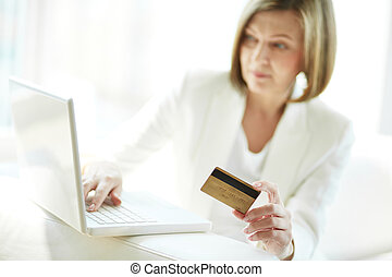 Payment through internet