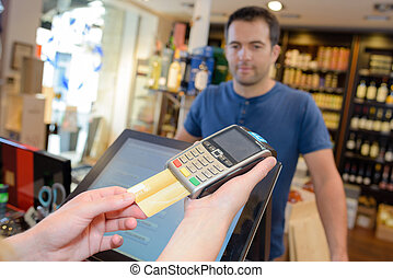 payment with a card