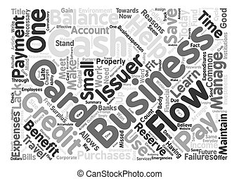 Payment With Business Credit Cards Helps Maintain Cash Flow Word Cloud Concept Text Background